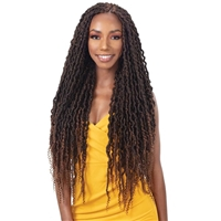 Glamourtress, wigs, weaves, braids, half wigs, full cap, hair, lace front, hair extension, nicki minaj style, Brazilian hair, crochet, hairdo, wig tape, remy hair, Lace Front Wigs, Remy Hair, Freetress Synthetic Braid - 2X NITA DISTRESSED GORGEOUS LOC 26
