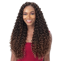 Glamourtress, wigs, weaves, braids, half wigs, full cap, hair, lace front, hair extension, nicki minaj style, Brazilian hair, crochet, hairdo, wig tape, remy hair, Lace Front Wigs, Remy Hair, Freetress Synthetic Braid - 3X VIVA CURL 18""