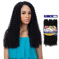 Glamourtress, wigs, weaves, braids, half wigs, full cap, hair, lace front, hair extension, nicki minaj style, Brazilian hair, crochet, hairdo, wig tape, remy hair, Lace Front Wigs, Remy Hair, Freetress Synthetic Pre-Loop Crochet Braid - 3X WATER WAVE 16""