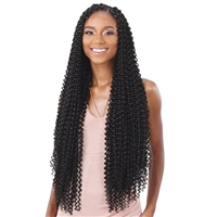 Glamourtress, wigs, weaves, braids, half wigs, full cap, hair, lace front, hair extension, nicki minaj style, Brazilian hair, crochet, hairdo, wig tape, remy hair, Lace Front Wigs, Remy Hair, Freetress Synthetic Braid - WATER WAVE EXTRA LONG