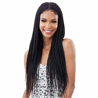 Glamourtress, wigs, weaves, braids, half wigs, full cap, hair, lace front, hair extension, nicki minaj style, Brazilian hair, crochet, hairdo, wig tape, remy hair, Freetress Equal Synthetic Braid Lace Wig - LONG BOX BRAIDS