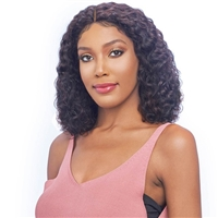 Glamourtress, wigs, weaves, braids, half wigs, full cap, hair, lace front, hair extension, nicki minaj style, Brazilian hair, crochet, hairdo, wig tape, remy hair, Vanessa 100% Brazilian Human Hair Wet & Wavy Lace Wig - TMH GINI
