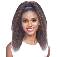 Glamourtress, wigs, weaves, braids, half wigs, full cap, hair, lace front, hair extension, nicki minaj style, Brazilian hair, crochet, hairdo, wig tape, remy hair, Lace Front Wigs, Remy Hair, Vanessa Synthetic Drawstring With Bundle Wrap Express Curl Pony