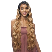 Glamourtress, wigs, weaves, braids, half wigs, full cap, hair, lace front, hair extension, nicki minaj style, Brazilian hair, crochet, hairdo, wig tape, remy hair, Vanessa Synthetic Deep J-Part Melt+ HD Lace Wig - KETTY