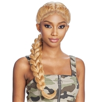 Glamourtress, wigs, weaves, braids, half wigs, full cap, hair, lace front, hair extension, nicki minaj style, Brazilian hair, crochet, hairdo, wig tape, Vanessa Slayd Dual Texture Braids Chic Lace Front Wig - TSB ELSA