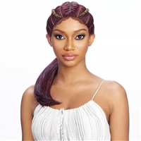 Glamourtress, wigs, weaves, braids, half wigs, full cap, hair, lace front, hair extension, nicki minaj style, Brazilian hair, crochet, hairdo, wig tape, Vanessa SLAY'D Double Horseshoe Lace Part Wig - TSB LARA