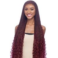 Glamourtress, wigs, weaves, braids, half wigs, full cap, hair, lace front, hair extension, nicki minaj style, Brazilian hair, crochet, hairdo, wig tape, remy hair, Vanessa Synthetic Slayd Braided Lace Front Wig - TSB CORNWAVE 32