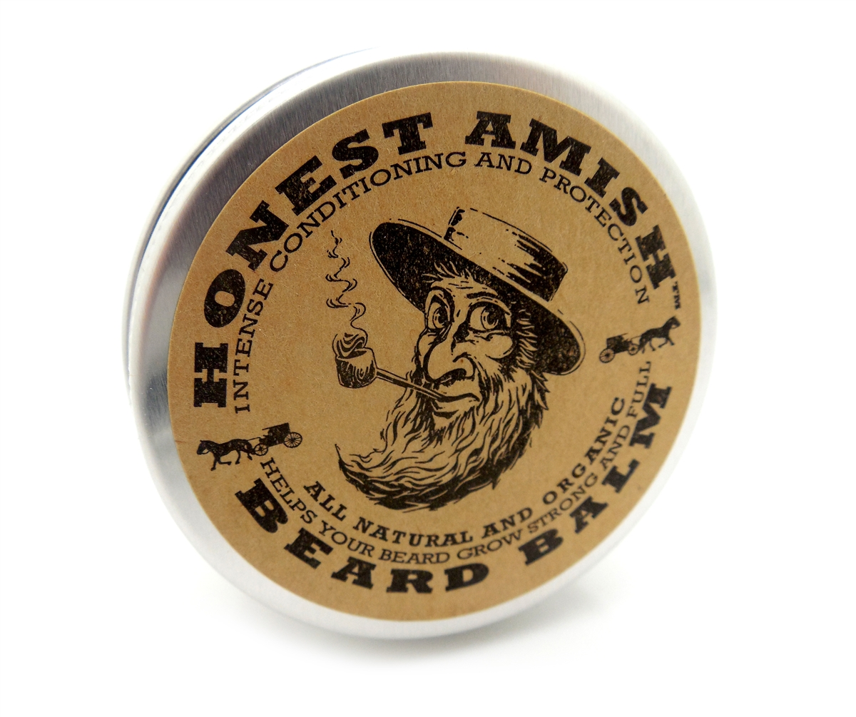 Honest Amish Beard Balm - Men's Leave-in Beard Conditioner and Tamer - with  Golden Jojoba and Virgin Argan Oils - THE BEST FOR YOUR BEARD!