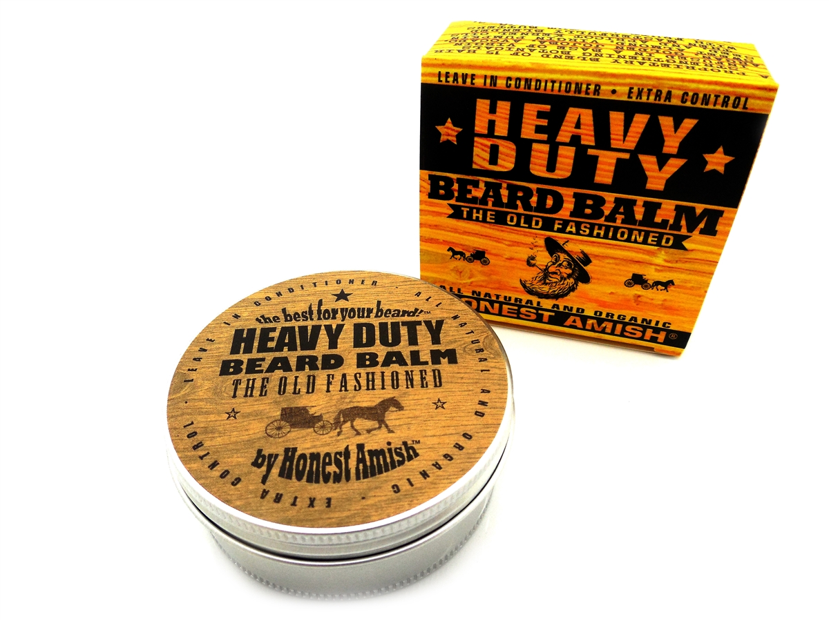 Honest Amish - Heavy Duty Beard Balm - 4 OUNCE - Big - Beard Conditioner