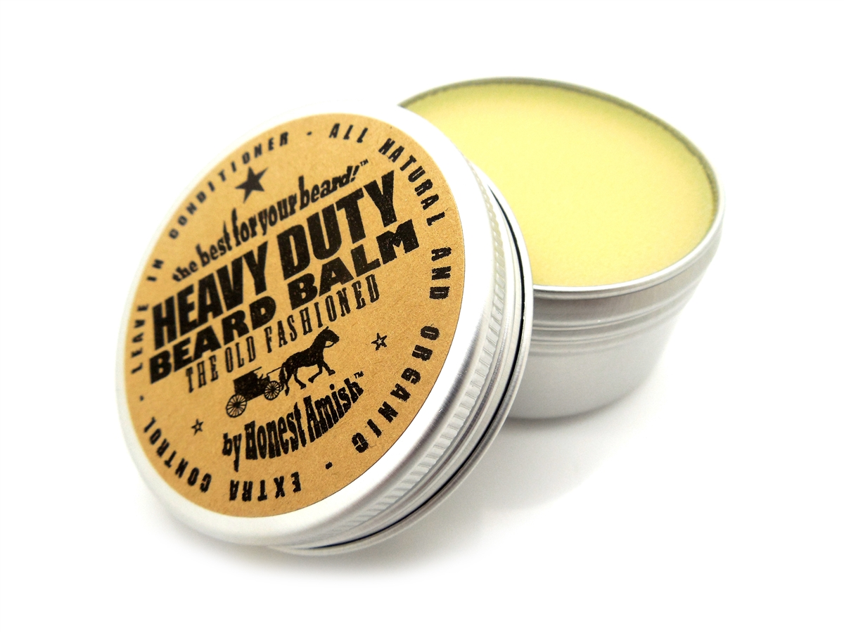 Honest Amish - Heavy Duty Beard Balm - 2 ounce tin - Beard Conditioner