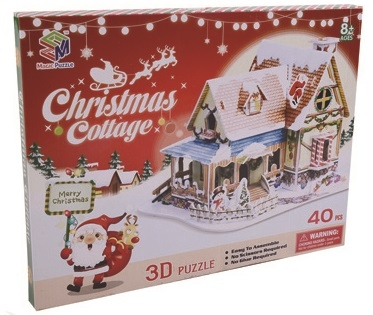 Nordic Christmas Hut Magic-puzzle/ CubicFun B368-1 3D Puzzle 40 Pieces