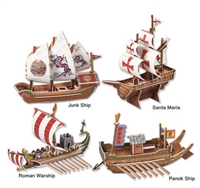 Ship Series Magic-puzzle/ CubicFun B368-16 3D Puzzle 73 Pieces