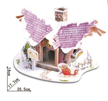 Angel Christmas Hut Magic-puzzle/ CubicFun B368-2 3D Puzzle 22 Pieces