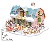 Dream House Christmas Magic-puzzle/ CubicFun B368-3 3D Puzzle 38 Pieces