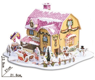 Candy House Christmas Magic-puzzle/ CubicFun B368-4 3D Puzzle 34 Pieces