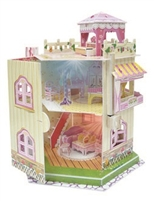 Rooftop Doll House With Led Light Magic-puzzle B468-15 3D Puzzle 101 Pieces