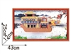 Dragon Boat On Wall Magic-puzzle/ CubicFun B468-24 3D Puzzle 93 Pieces