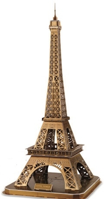 Hardcover Edition Of  Eiffel Tower Magic-puzzle/ CubicFun B568-4 3D Puzzle 66 Pieces