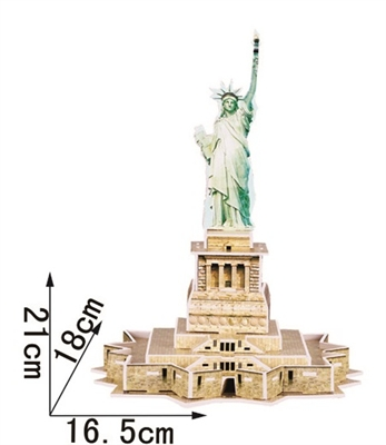 Statue Of Liberty Magic-puzzle/ CubicFun B668-11 3D Puzzle 22 Pieces