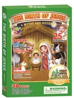 Nativity Story Magic-puzzle/ CubicFun B668-40 3D Puzzle 25 Pieces