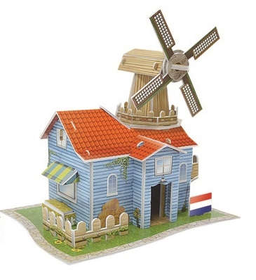 Dutch Ranch Magic-puzzle/ CubicFun B668-55 3D Puzzle 27 Pieces