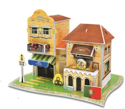 Hotel Anjo De Portugal Magic-puzzle/ CubicFun B668-58 3D Puzzle 27 Pieces