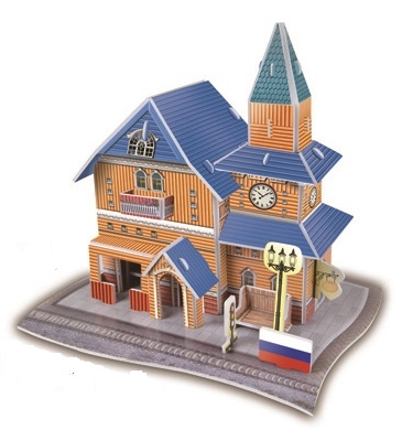 Russia Train Station Magic-puzzle/ CubicFun B668-62 3D Puzzle 29 Pieces