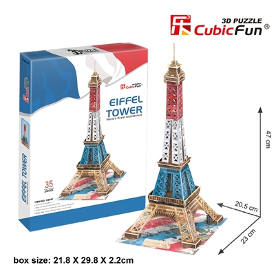 3D Puzzle Eiffel Tower CubicFun C044h-2 35 Pieces