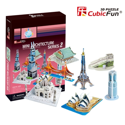 Mini Architecture Series 2 CubicFun C058h 3D Puzzle 143 Pieces