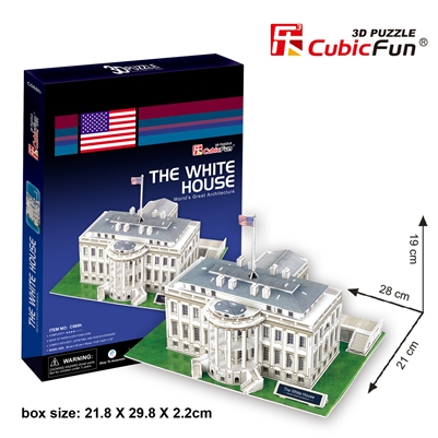 White House CubicFun C060h 3D Puzzle 64 Pieces