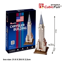 Chrysler Building CubicFun C075h 3D Puzzle 70 Pieces