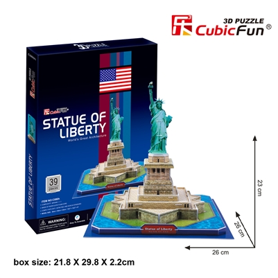 Statue Of Liberty (U.S.A) CubicFun C080h 3D Puzzle 39 Pieces