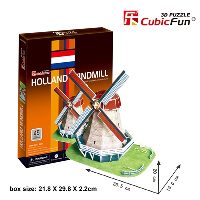 Holland Windmill CubicFun C089h 3D Puzzle 53 Pieces