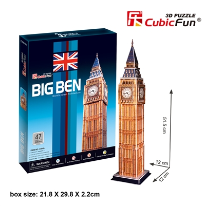 Big Ben CubicFun C094h 3D Puzzle 47 Pieces
