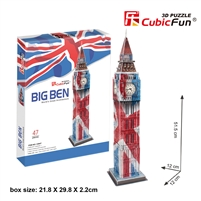 3D Puzzle Big Ben CubicFun C094h2 47 Pieces