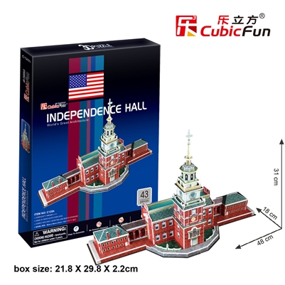 Independence Hall CubicFun C120h 3D Puzzle 43 Pieces