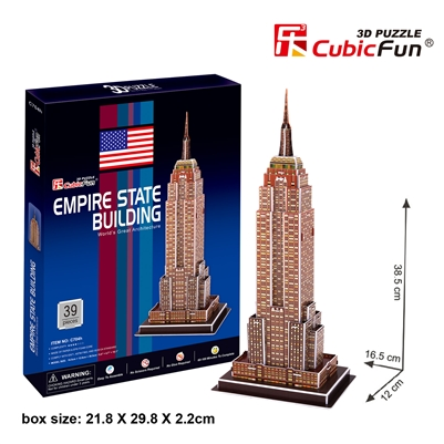Empire State Building CubicFun C704h 3D Puzzle 39 Pieces