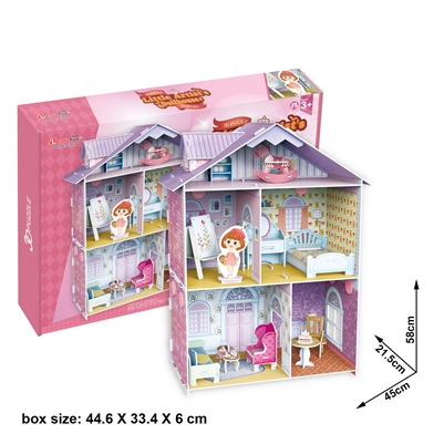 Little Artist'S Dollhouse Cubicfun K1201H 60 Pieces