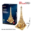 3D Puzzle Eiffel Tower (LED) CubicFun L199h 89 Pieces