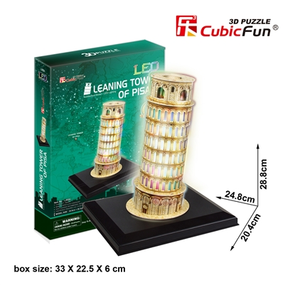 Pisa Tower CubicFun L502h 3D Puzzle 15 Pieces