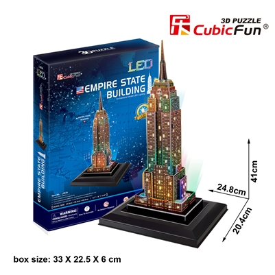 Empire State Building (U.S.A) CubicFun L503h 3D Puzzle 38 Pieces