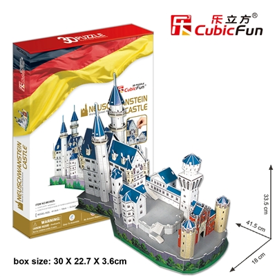 Neuschwanstein Castle CubicFun MC062h 3D Puzzle 98 Pieces