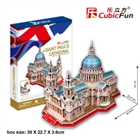 St. Paul's Cathedral CubicFun MC117h 3D Puzzle 107 Pieces