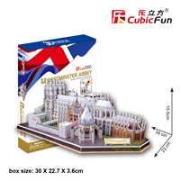 Westminster Abbey CubicFun MC121h 3D Puzzle 145 Pieces