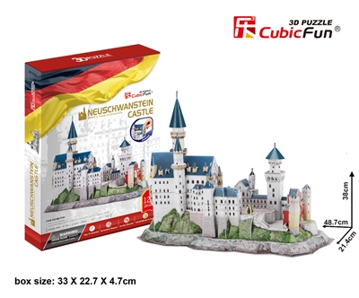 Neuschwanstein Castle CubicFun MC174h 3D Puzzle 128 Pieces