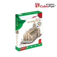 3D Puzzle Duomo/ Milan Cathedral Church St Mary Milan Italy Cubicfun 251 Pieces