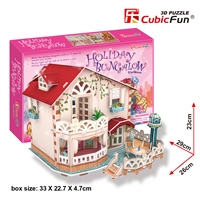 Holiday Bungalow Dollhouse CubicFun P634h 3D Puzzle 114 Pieces
