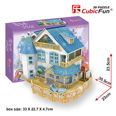 Rural Villa Dollhouse CubicFun P635h 3D Puzzle 132 Pieces