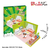 Honey Room-Living Room CubicFun P657h 3D Puzzle 44 Pieces