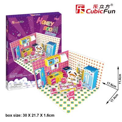 Honey Room-Kitchen CubicFun P658h 3D Puzzle 61 Pieces